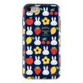 ミッフィー 多機能スマホケース 『フルーツ柄』かわいい鏡付き&カード収納ケース iphone